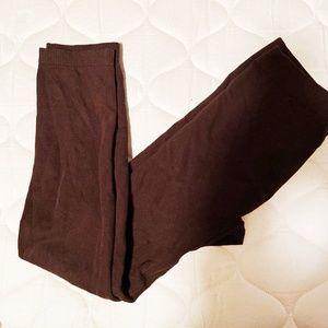 Fleece lined leggings - brown